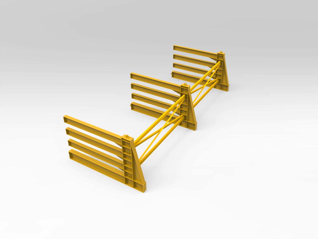 Horizontal Steel Plate Storage Rack  sc 1 st  Bend Tech Group & Horizontal Steel Plate Storage Rack - Bend Tech Group