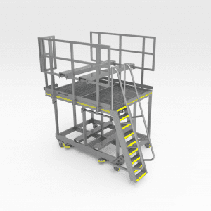 Train Positioner Continuary Roller Access Platform