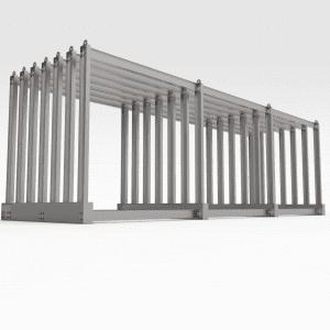 Vertical Storage Rack, Steel Plate