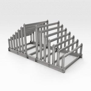 Sloping Vertical Steel Plate Rack