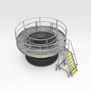 Circular Platform for Crusher Bowl Access