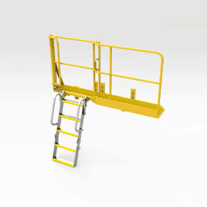 Komatsu 830e Engine Bay Access Platform and Ladder