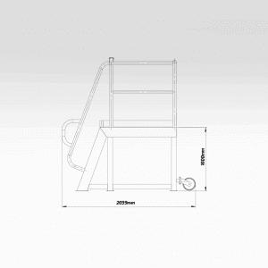 Access Step Platform 1000mm