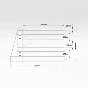 Horizontal Plate Storage Rack