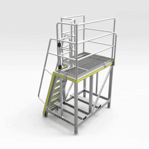 Railcar Clamp Wear Pad Access Platform