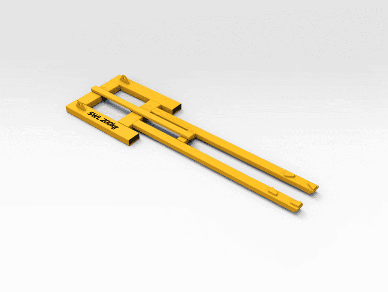 Hitachi EX3600 Load Roller Stand Placement Frame