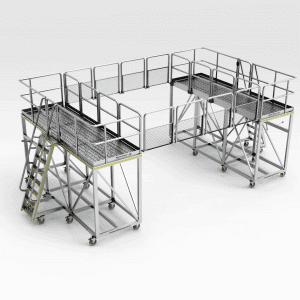 Hitachi EX5500/EX5600 Slew Bearing Platform Changeout Kit