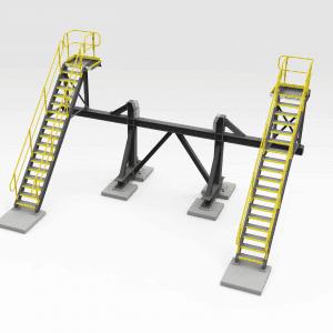 Stacker Maintenance Platform and Cradle