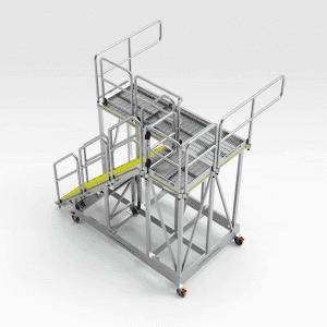 Caterpillar AD45B Rear Tray Access Platform