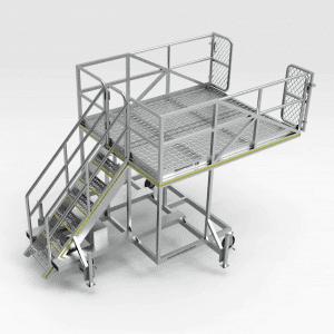Caterpillar D11 and Komatsu 475A Dozer Engine Bay Access Platform