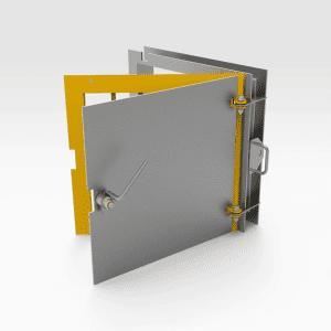 Jail Bar Door - Galvanised 600mm x 600mm