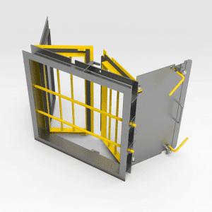 Jail Bar Door - Galvanised Double Door