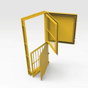 Jail Bar Door - Double 2000mm x 820mm