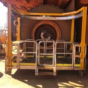 Haul Truck Wheel Service Platform