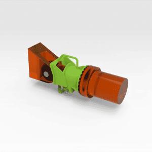 Sandvik DD421 Hydraulic Ram Clamp - 200mm