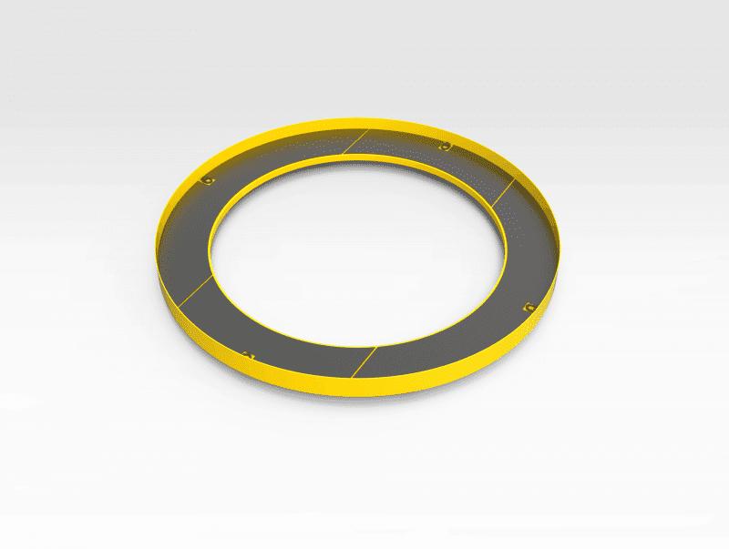 Lower Crusher Round Access Platform