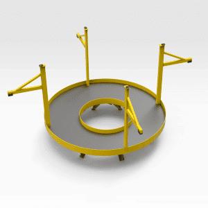 Top Crusher Round Access Platform