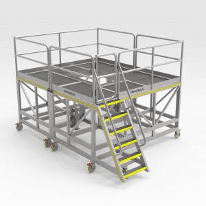 Train Positioner Motor Access Platform
