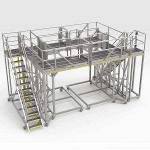 Access Platform Set for Ship Grab