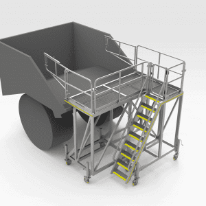 Epiroc MT65 Rear Tray Access Platform
