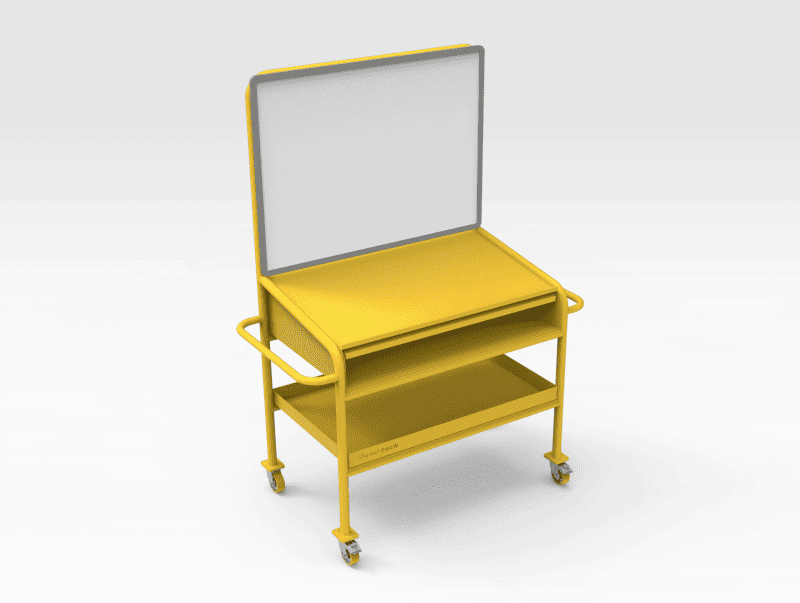 Whiteboard Bench with Drawer