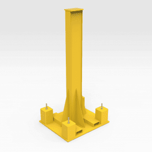 Work Stand with Retractable Wheels 10 Tonne 2400mm (H)