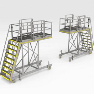 Water Cart Engine Bay Access Platform