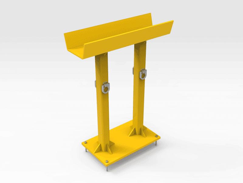 Komatsu WA1200 Driveshaft Work Stand
