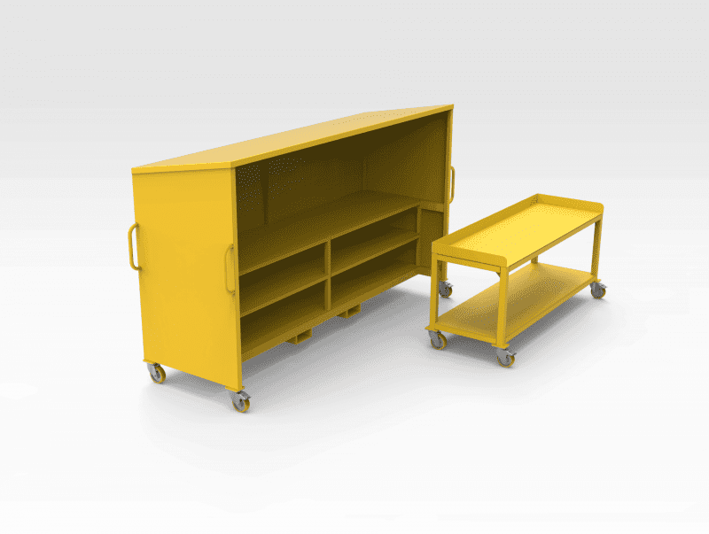 Mobile Work Bench with Cover