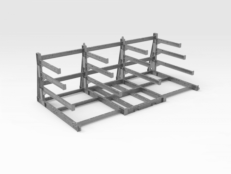 Flexible Sheeting and Gridmesh Storage Rack