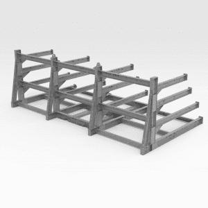 Flexible Sheeting and Gridmesh Rack GAL REAR