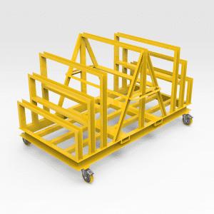Steel Plate Rack on wheels
