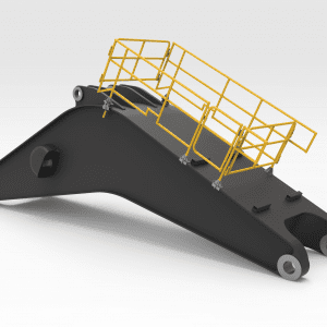 Komatsu PC 5500 Boom Handrails