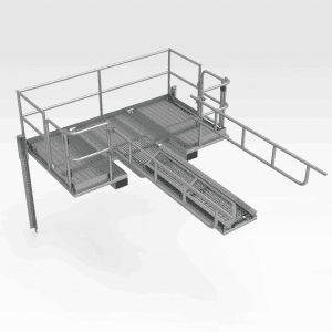 Komatsu WA1200 Drop-in Bucket Pin Access Platform