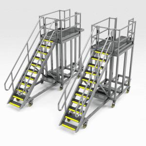 Komatsu WA1200 Treadle Access Platform Set