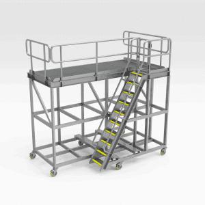 Komatsu PC4000 Foot Pins Access Platform