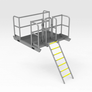 Trench Access Platform And Ladder