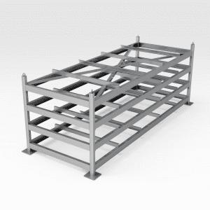 Flat Plate Steel Storage Rack - Long