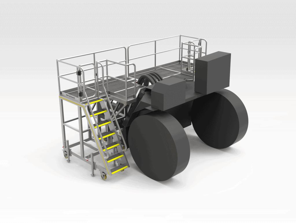 Rear-Transmission-Access-Platform-Machine