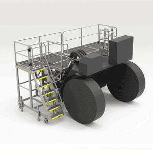 Caterpillar AD60 Rear Transmission Access Platform