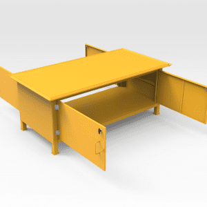 Work Bench With Enclosed Storage