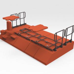 Hitachi EX5600 Travel Motor Cover Folding Handrails