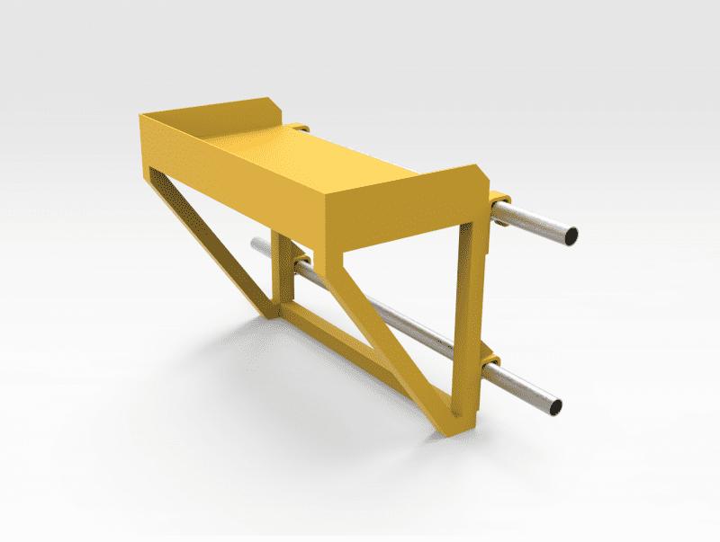 Aluminium Handrail Mounted Work Benches