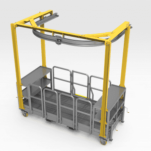 Monorail For Wheel Service Platform - Extended