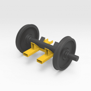 Rail Bogie Forklift Attachment