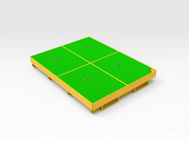 Oil Drain Tray 2000mm (L) x 1500mm (W)
