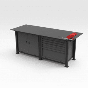Storage Work Bench with Vice