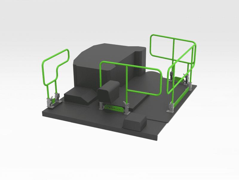 Handrail 5600269 to suit Epiroc ST14 - Full Set