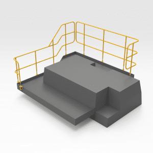 Caterpillar D10T Rear Handrails