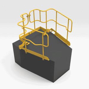 5504835 D10T Bonnet Handrails LH